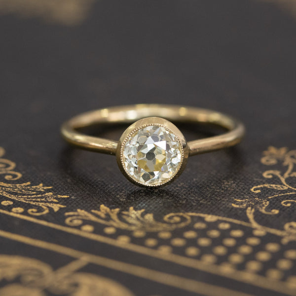 1.13ct Old European Cut Solitaire, GIA Fancy Yellow VS2
