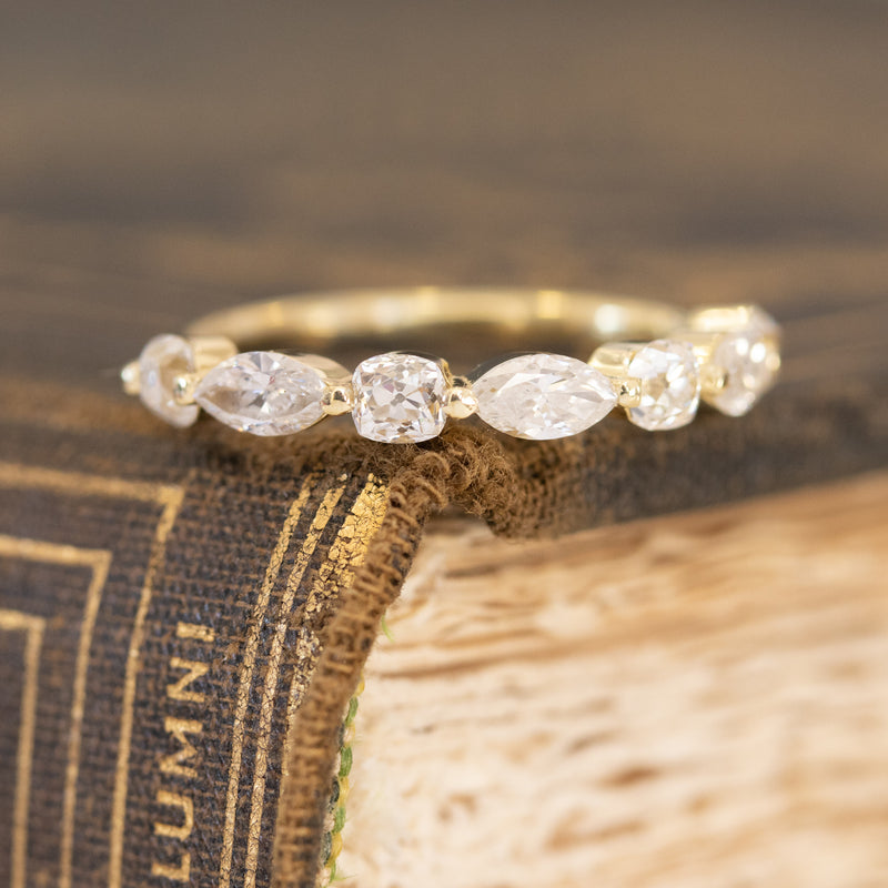 1.15ctw Mixed Marquise & Old Mine Cut Diamond Band