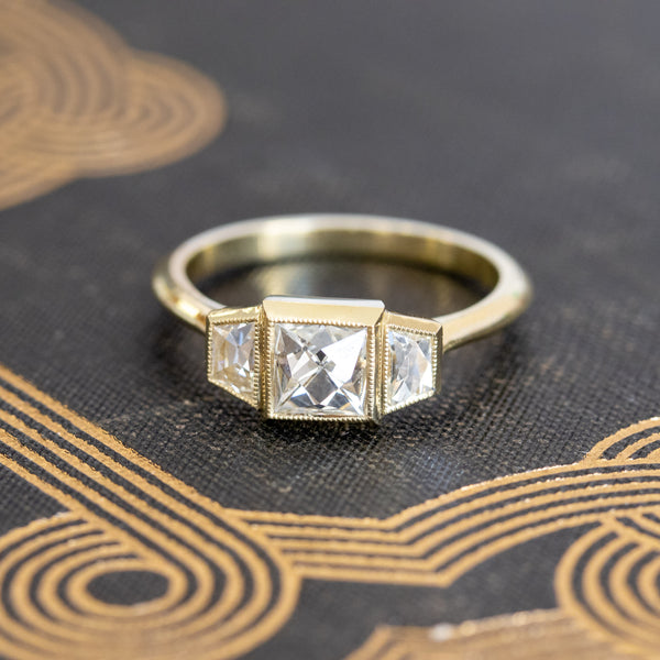 1.19ctw French Cut Trilogy Ring