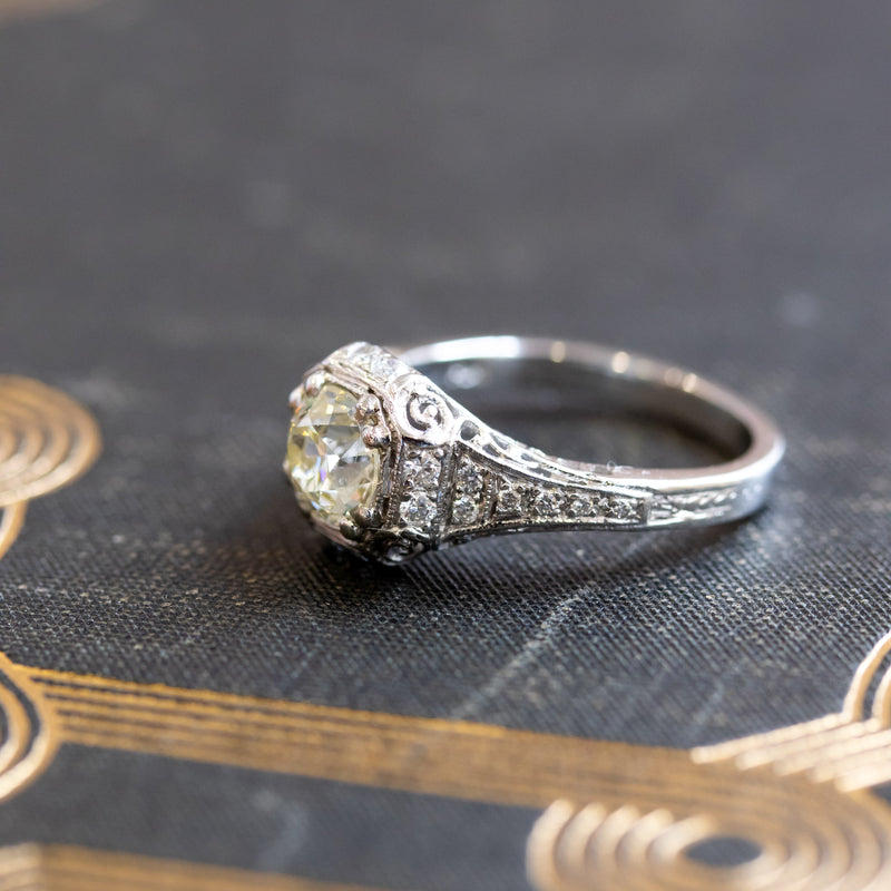 1.22ct Old European Cut Diamond Ring
