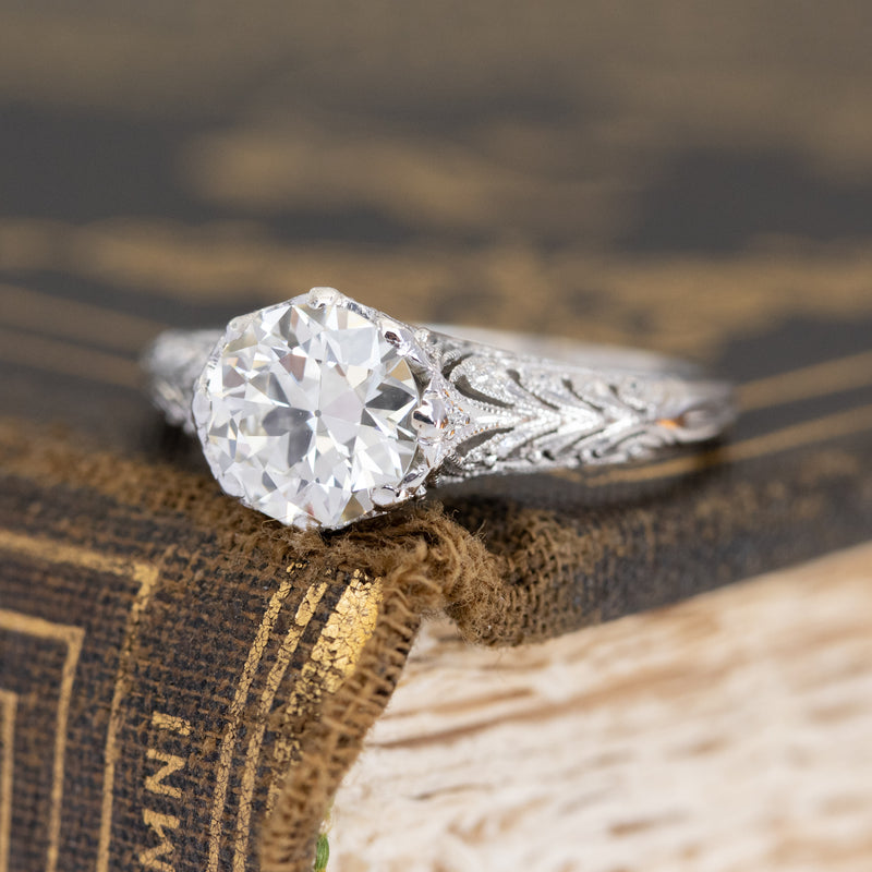 1.26ct Transitional Cut Diamond Solitaire, GIA M VS1