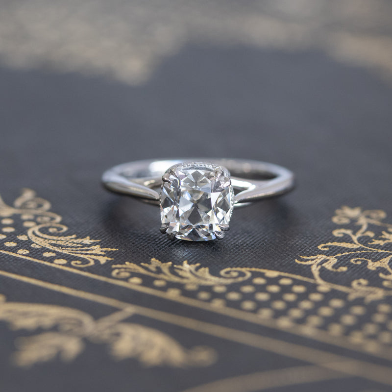 1.43ct August Vintage Cushion Solitaire G SI1,GIA