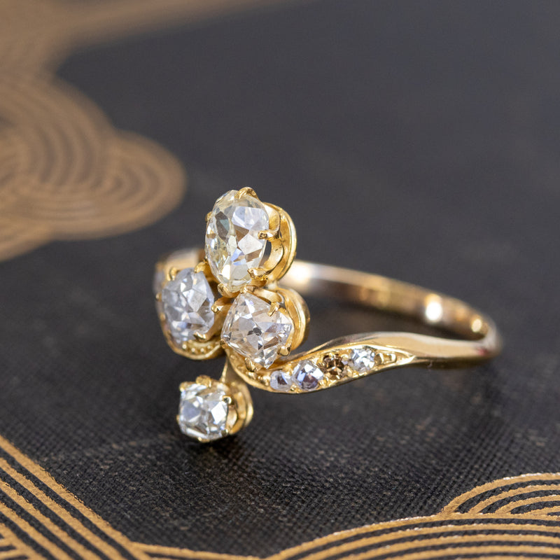 1.45ctw Antique Diamond Tiara Ring