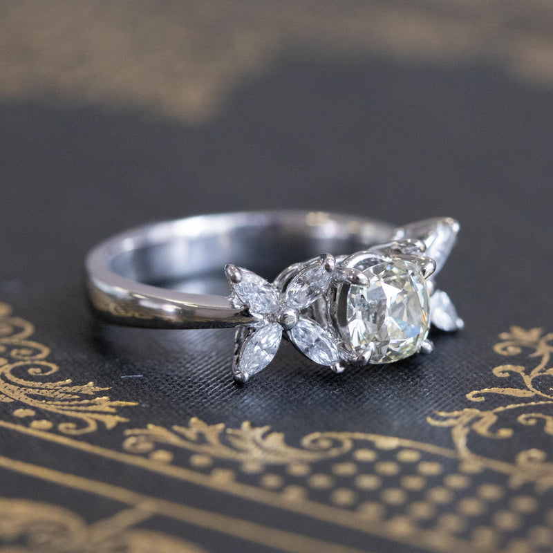 1.47ctw August Vintage Diamond Fancy Ring