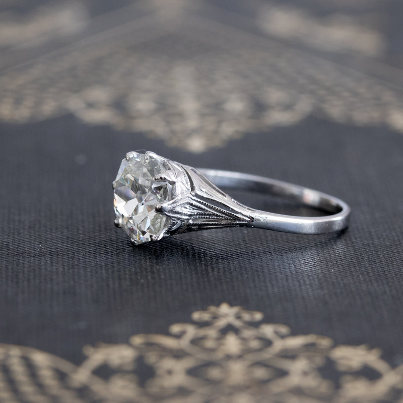 1.52ct Antique Elongated Cushion Solitaire, GIA J VS2