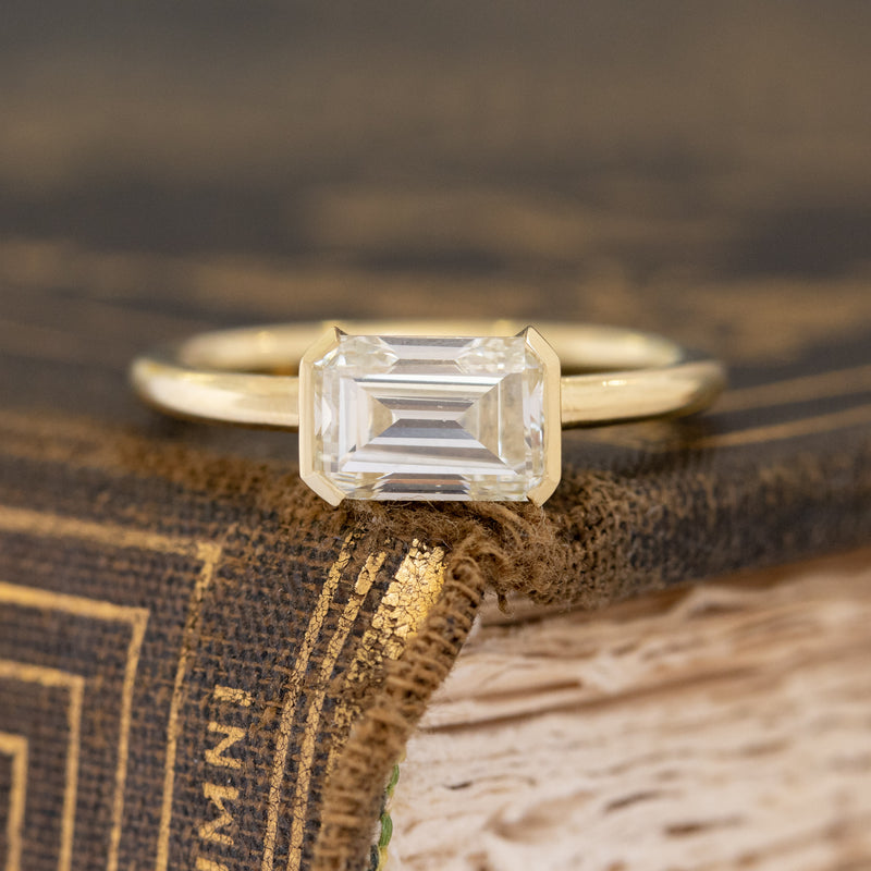 1.56ct Emerald Cut Diamond Solitaire, GIA M SI1