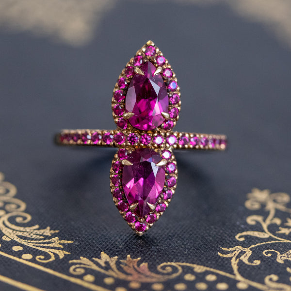 1.72ctw Tourmaline & Ruby Twin Stone Ring by Robinson Designer Jewelry (RDG)