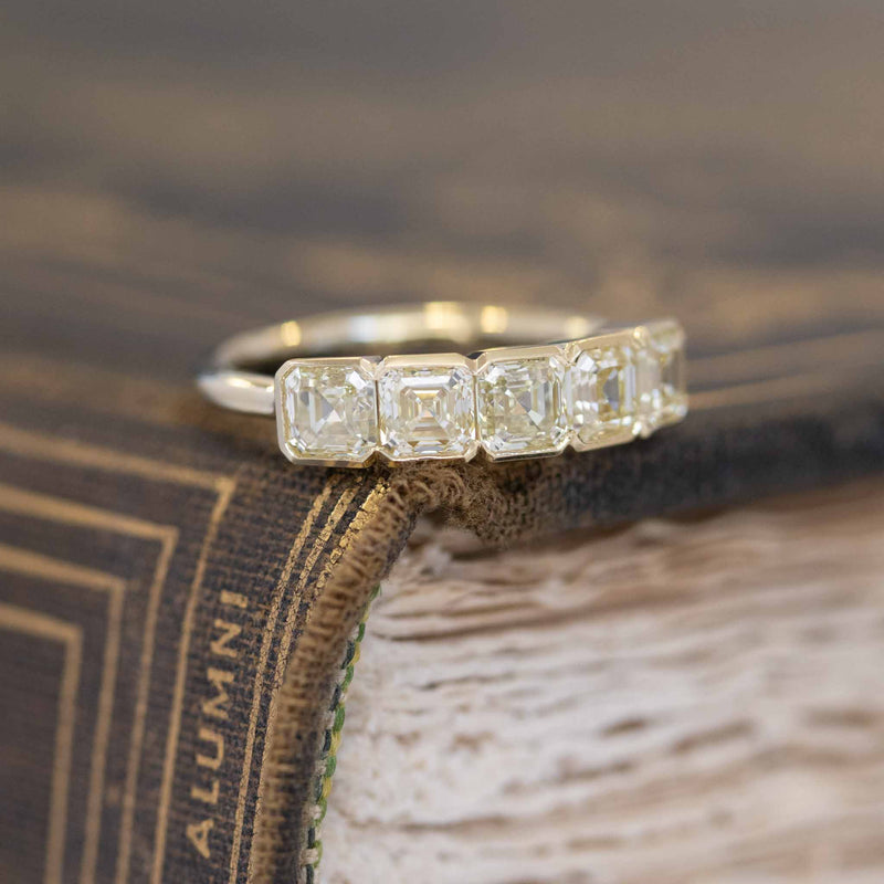 1.77ctw 5-Stone Asscher Cut Diamond Ring