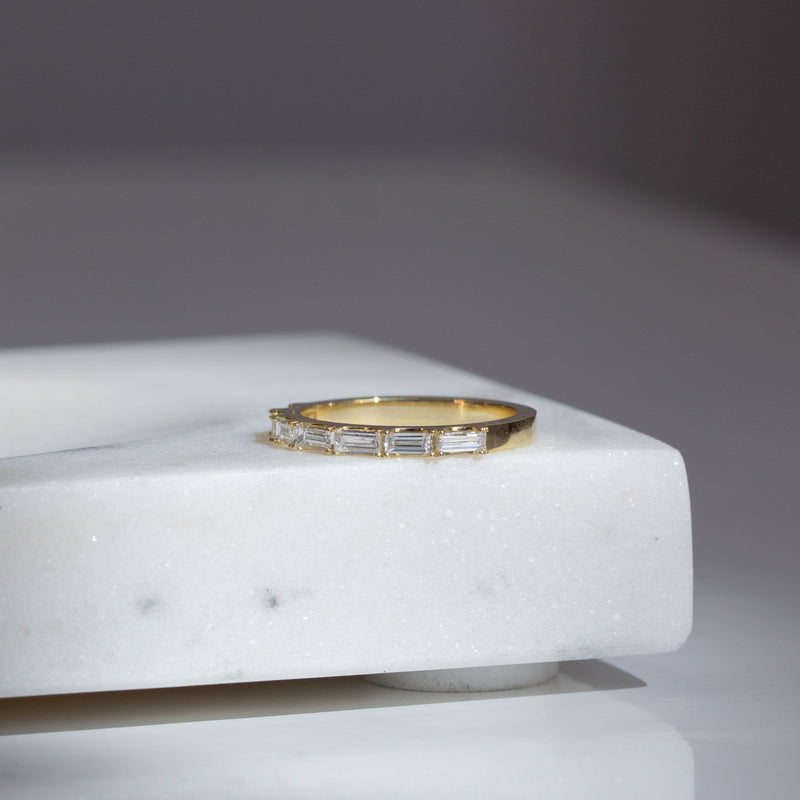 .41ctw 7-Stone Slim Baguette Band, 18kt Yellow Gold