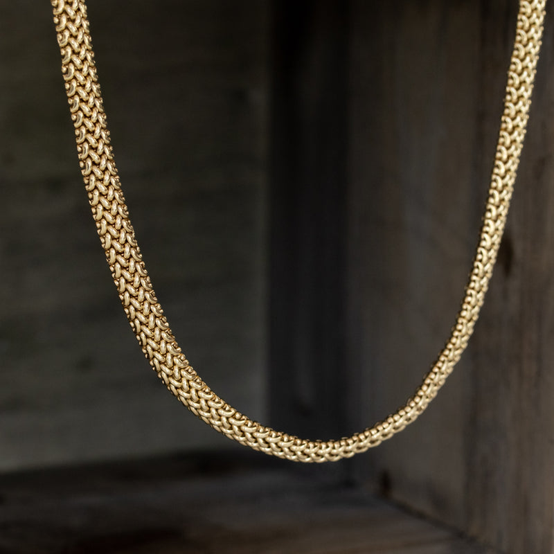 14kt Yellow Gold Vintage Snake Chain