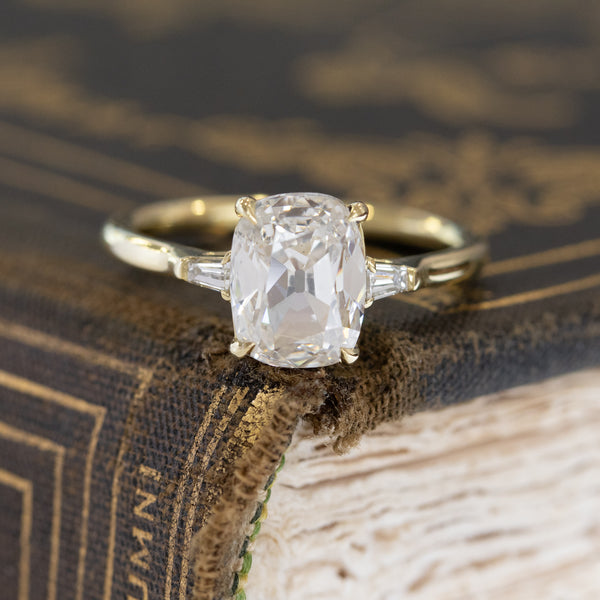 2.10ctw Old Mine Cut Diamond Solitaire, GIA K