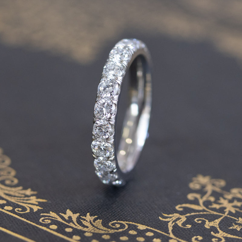 2.14ctw Transitional Cut Diamond Eternity Band