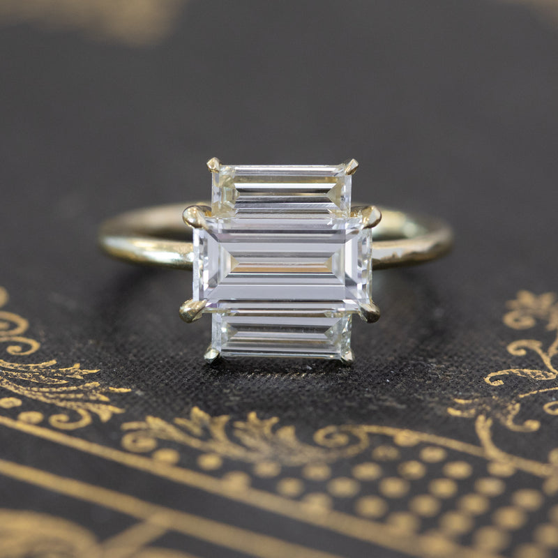 2.42ctw Baguette Trilogy Ring, GIA L VS