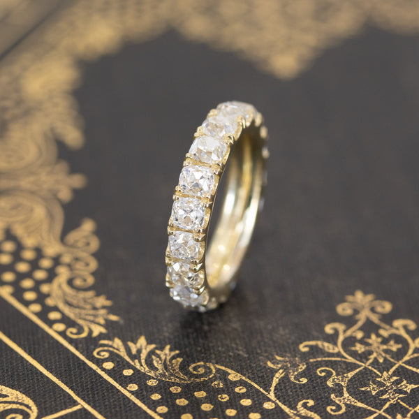 2.79ctw Old Mine Cut Eternity Band