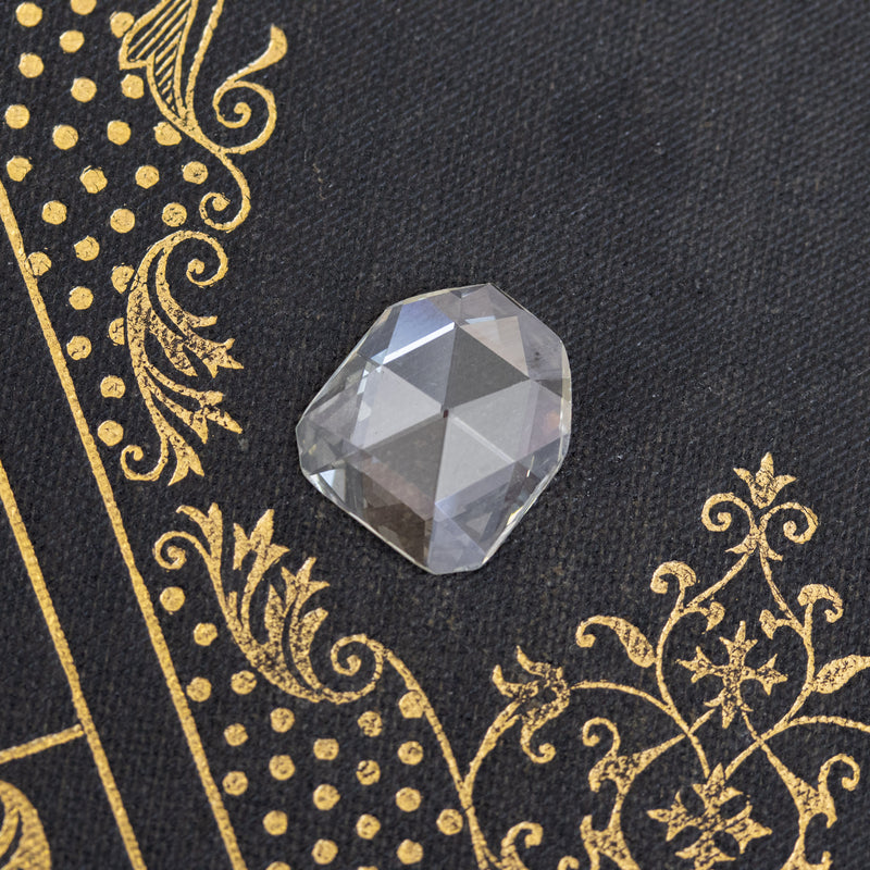 2.91ct Antique Rose Cut Diamond, GIA Q-R VS1