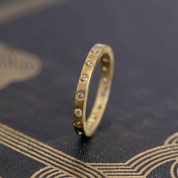 .22ctw Fancy Color Diamond Eternity Band in Yellow Gold, by Liseanne Frank