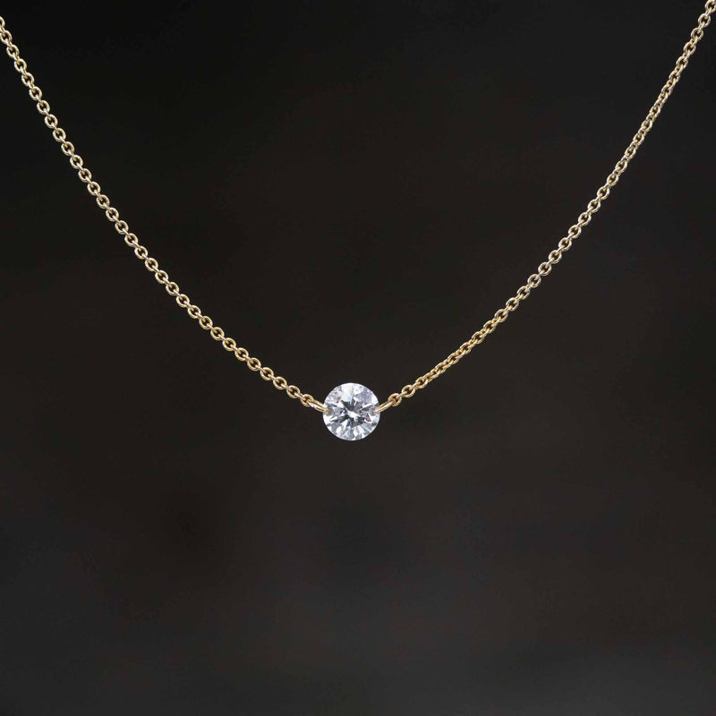 .29ct Round Brilliant Cut Diamond Pierced Pendant