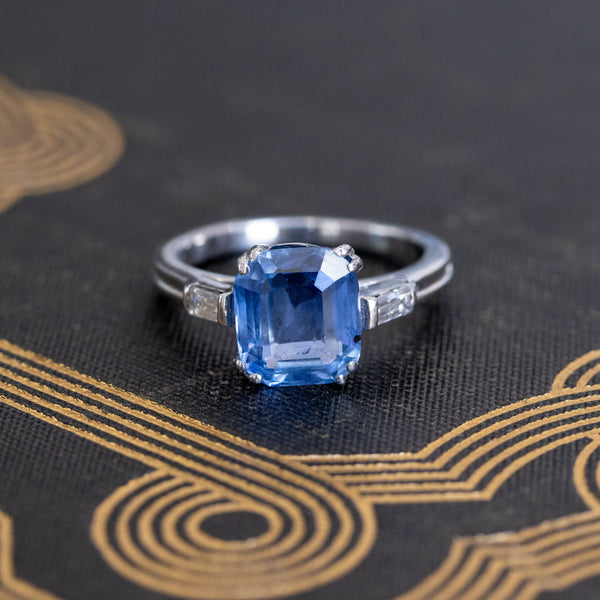 3.03ct Blue Sapphire Ring (GIA, No-Heat))