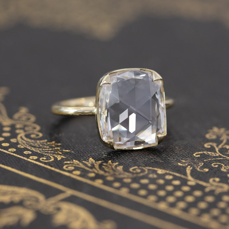 4.01ct Rose Cut Diamond Solitaire, GIA L VVS2