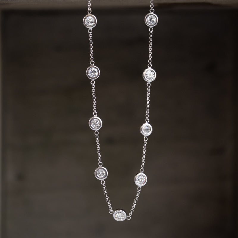 4.05ctw Old European Cut Diamonds-by-the-yard Necklace