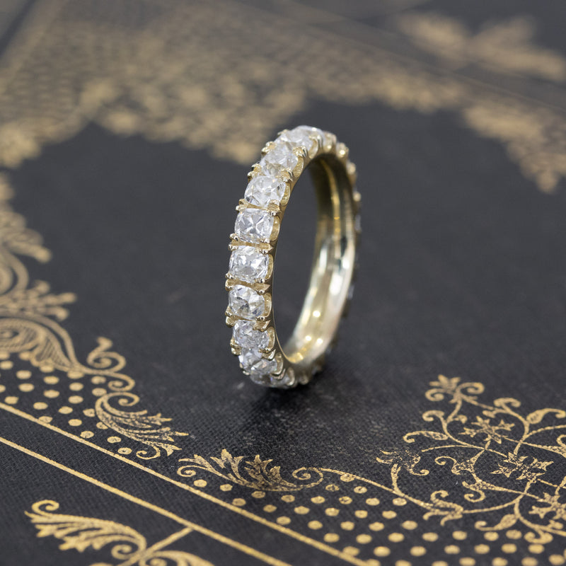 4.26ctw Old Mine Cut Diamond Eternity Band