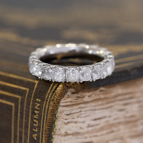 4.91ctw Old Mine Cut Diamond Eternity Band