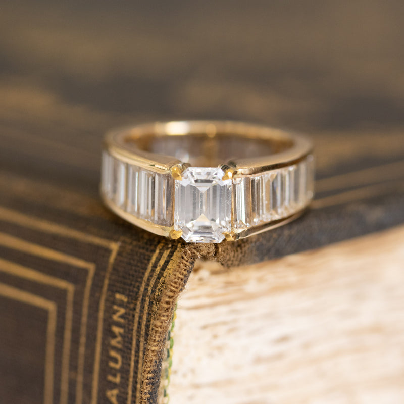 5.07ctw Emerald Cut Baguette Eternity Ring