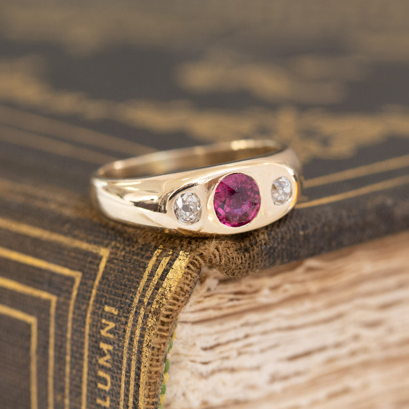 .59ctw Ruby & Diamond Gypsy Style Ring