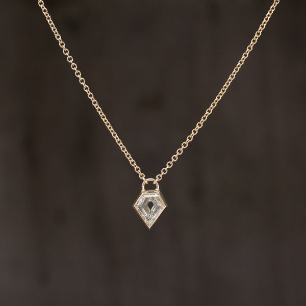 .66ct Shield Cut Diamond Pendant