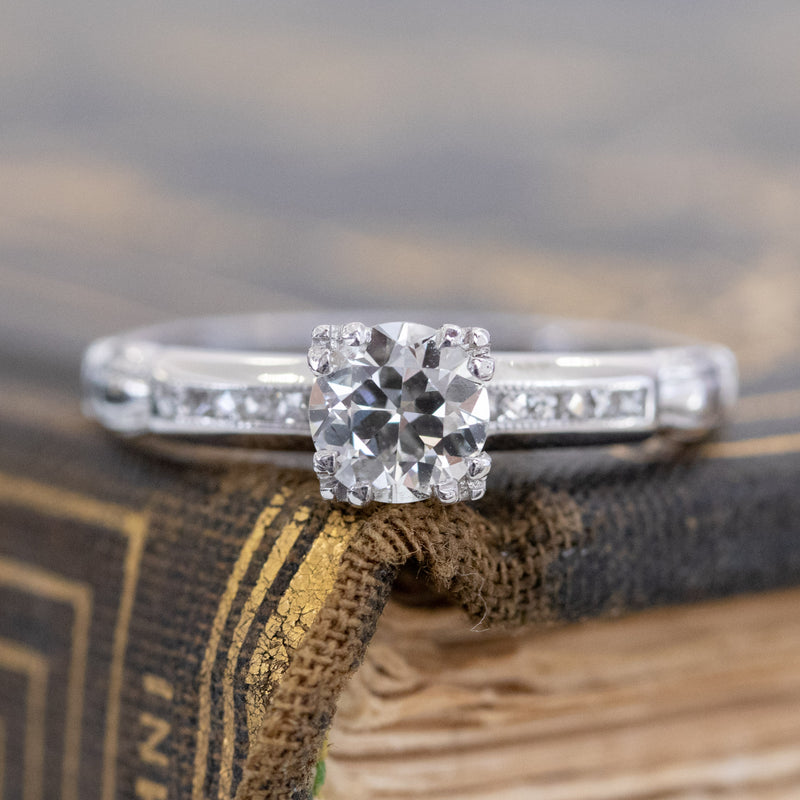 .68ctw Vintage Old European Cut Diamond Solitaire