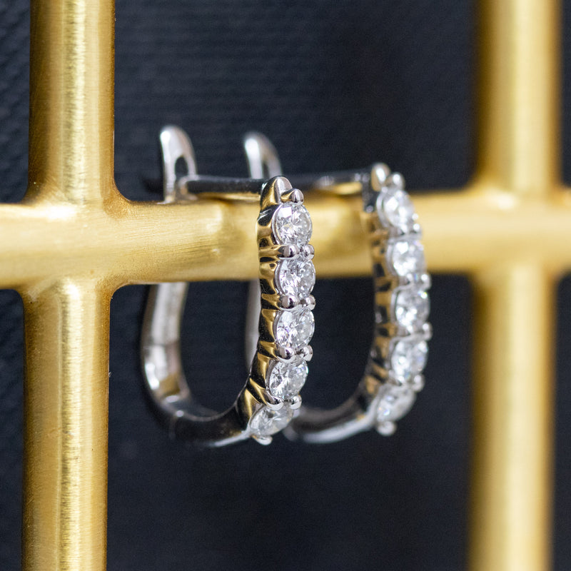 .70ctw Diamond Hoop Earrings