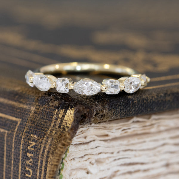 .76ctw Mixed Marquise & Old Mine Cut Diamond Band