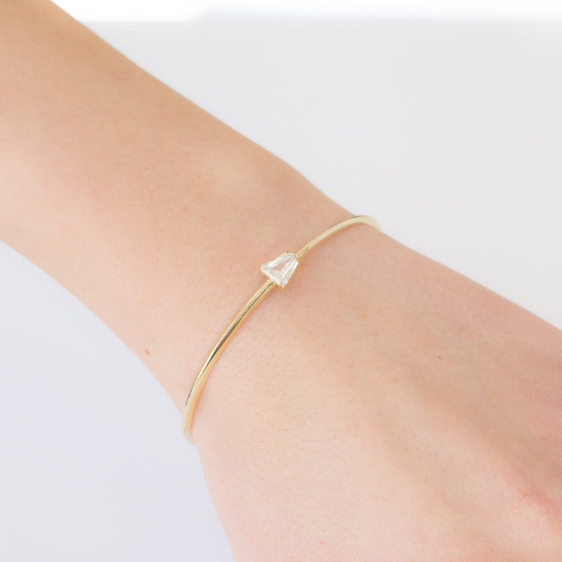 .68ct Shield Cut Bangle, GIA K VS2
