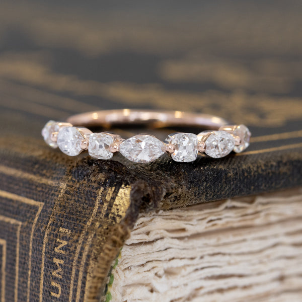 .80ctw Mixed Marquise & Old Mine Cut Diamond Band