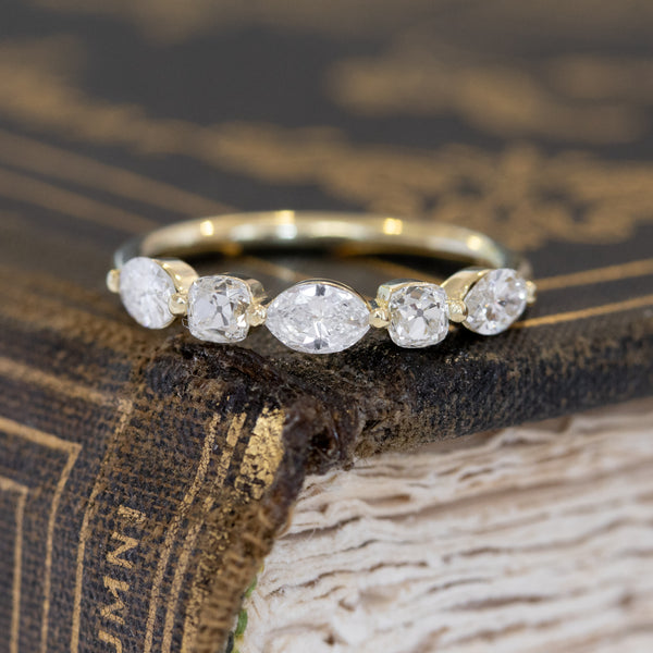 .85ctw Mixed Marquise & Old Mine Cut Diamond Band