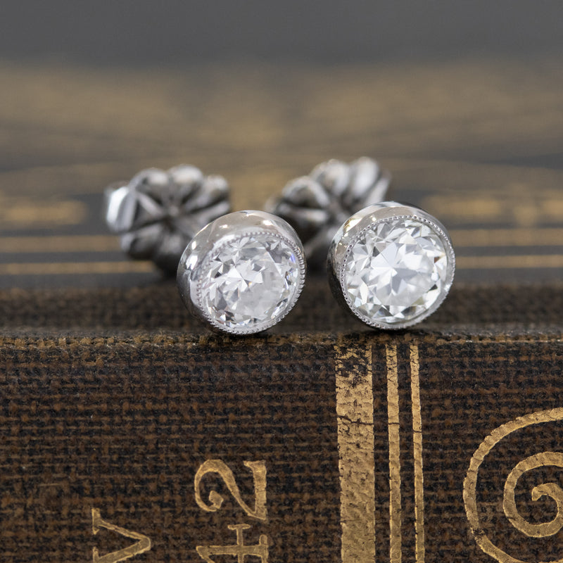 .94ctw Old European Cut Diamond Studs
