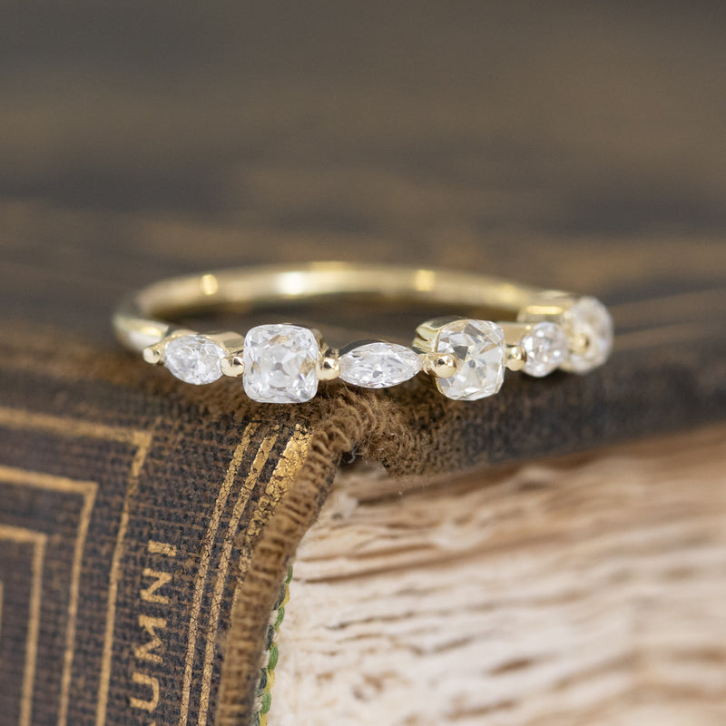 .95ctw Mixed Marquise & Old Mine Cut Band