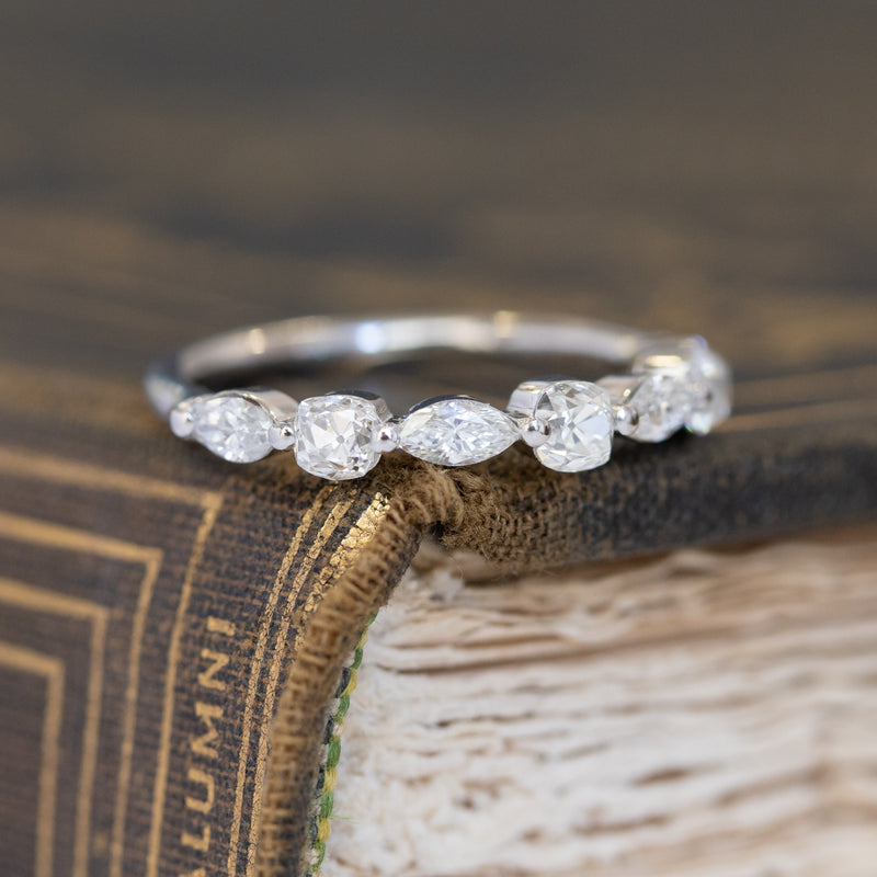 .98ctw Marquise & Old Mine Cut Diamond Band