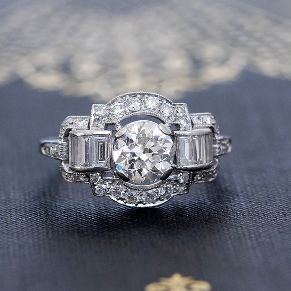 1.84ctw Antique Old European Cut Diamond Ring, by Peacock