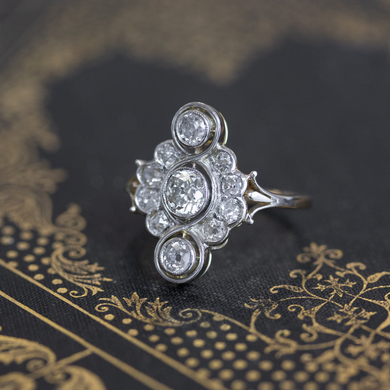 2.03ctw Belle Époque Trilogy Ring
