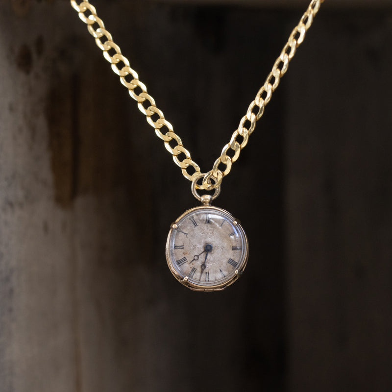3.58ctw Georgian-era Diamond Lapel Watch Pendant, by H Kreitz