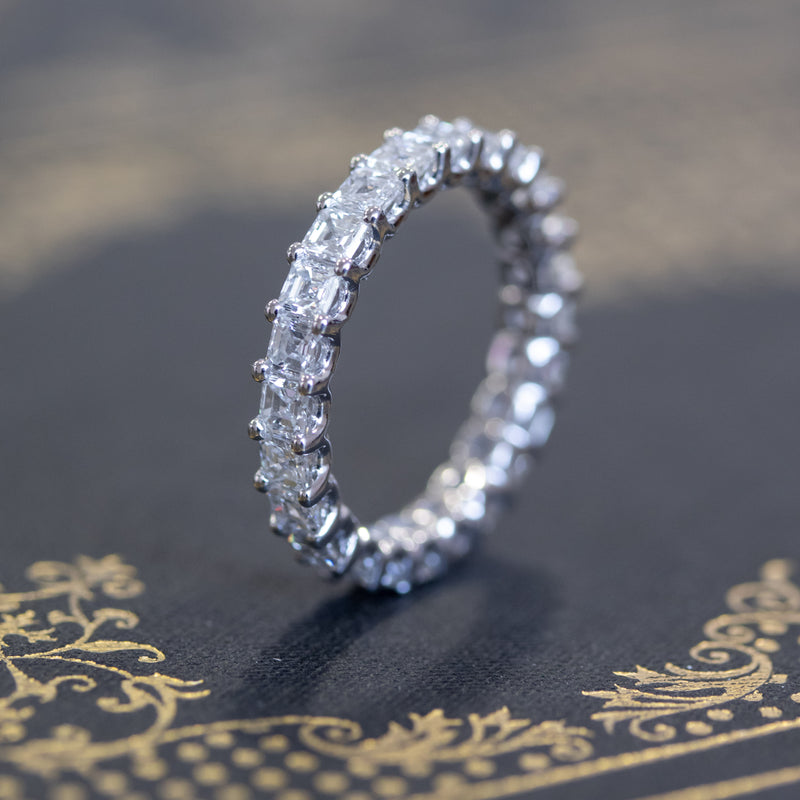 3.20ctw Asscher Cut Diamond Eternity Band
