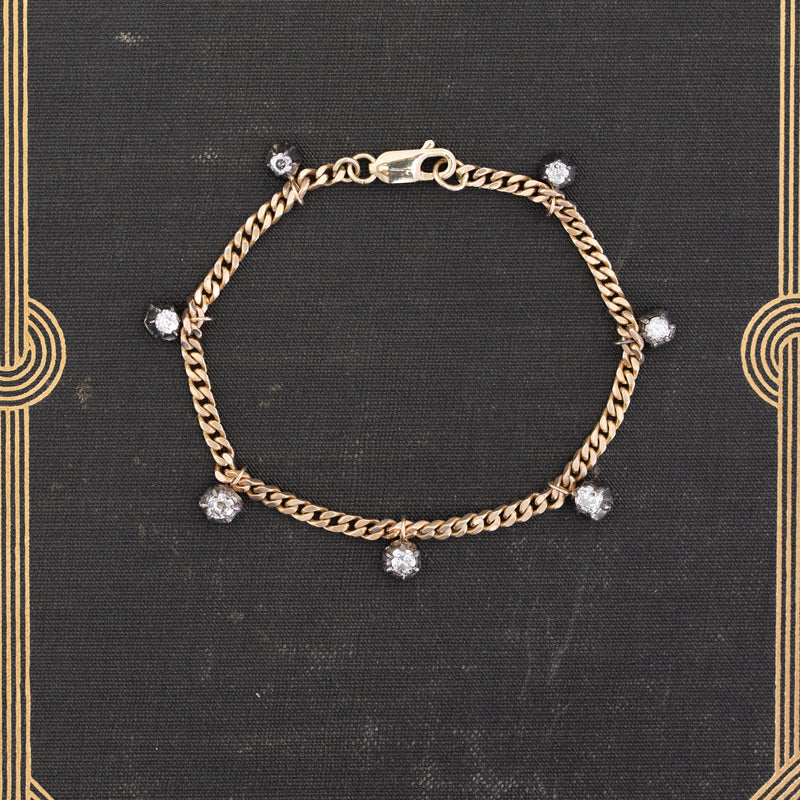 1.08ctw Collet Diamond Station Bracelet
