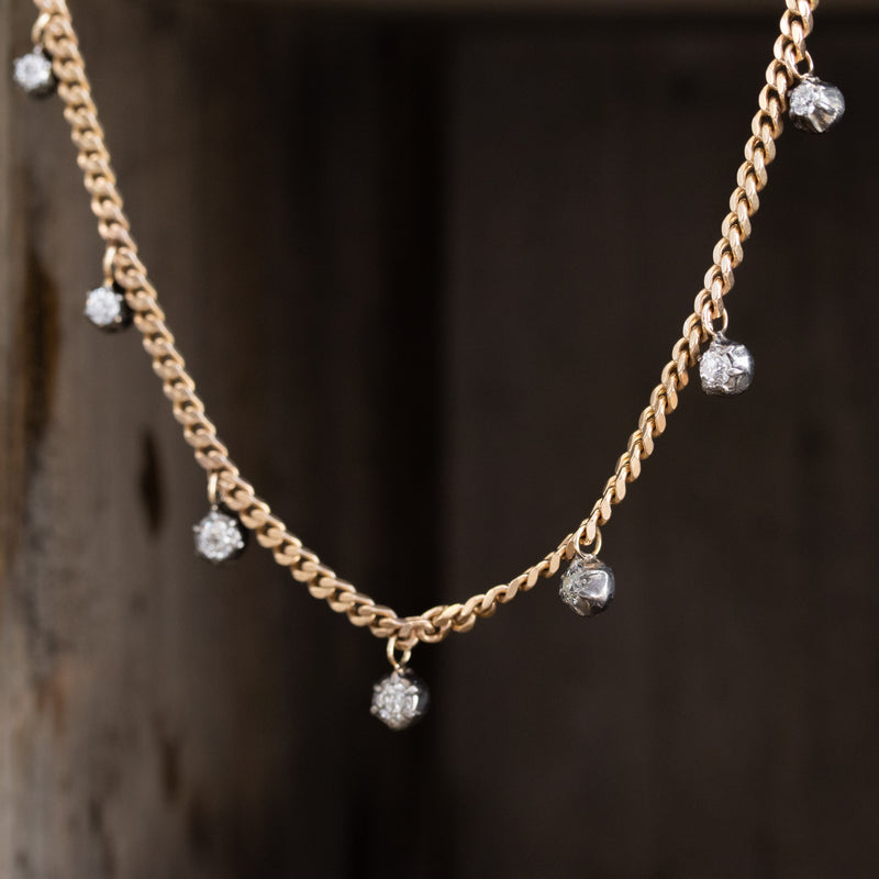 1.28ctw Collet Diamond Station Necklace
