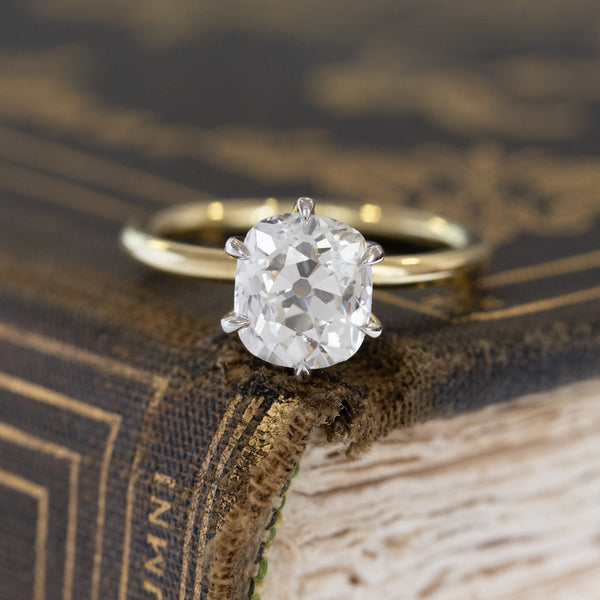 1.91ct Old Mine Cut Diamond Solitaire, GIA K I1