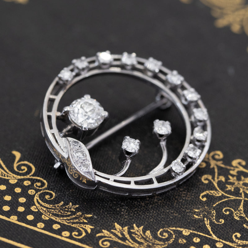 1.76ctw Vintage Diamond Brooch