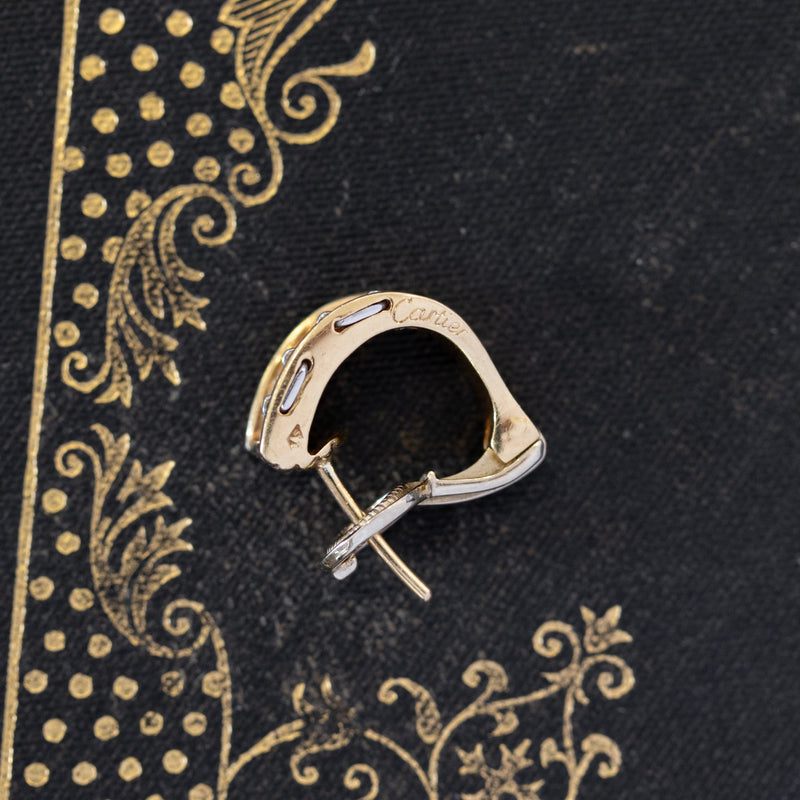 1.50ctw Diamond Gold Hoop Earrings, by Cartier (French)