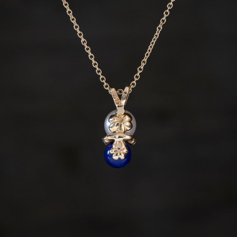 Vintage Diamond, Pearl, and Sapphire Pendant, by Tiffany & Co.