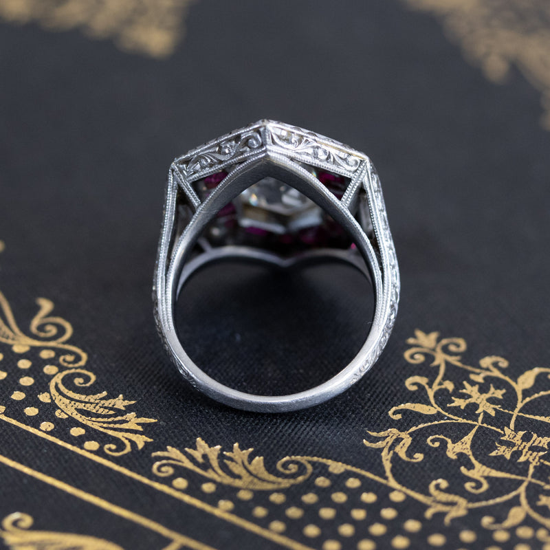 6.56ctw Victorian Diamond & Ruby Ring