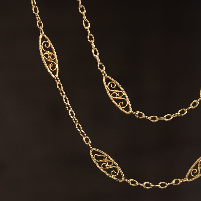 Antique Filigree Necklace, French